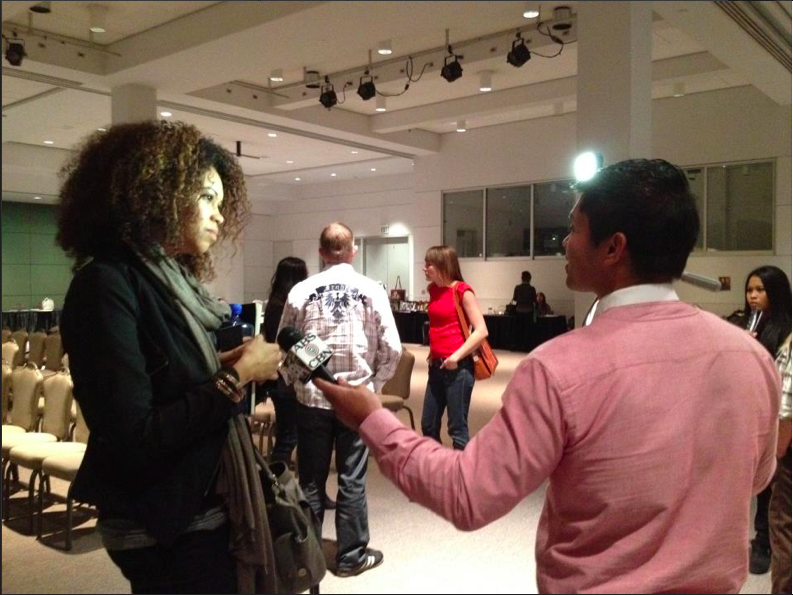 Me being interviewed by ABS-CBN TV